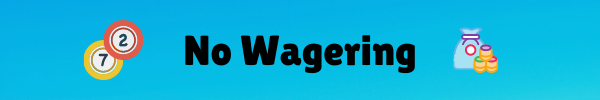 No Wagering bingo sites