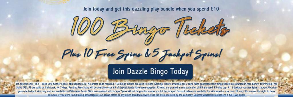 dazzle bingo bonus
